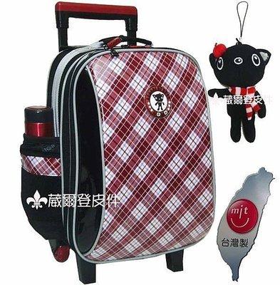 【葳爾登】UNME拉捍小學生書包【亮面防水送雨套】兒童書包拉桿旅行箱護脊書包3328紅色