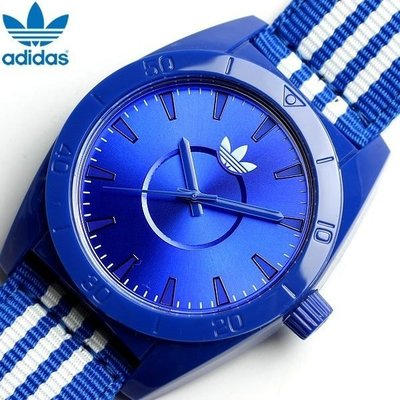 【adidas - ADH 2662】100%全新正品 輕量化 運動型 名錶 手錶 / 寶藍色【防水50米】29g 瑕疵