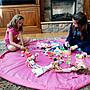 【自在坊】兒童玩具收納袋 Toy storage bags for lego 爆款玩具快速收納包 遊戲墊 地墊 玩具墊