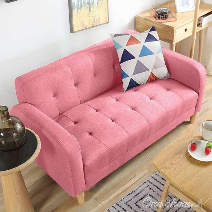 沙發 訂製   房間小沙發公寓布藝小戶型雙人三人位1.5米迷你臥室店鋪出租房   YXS