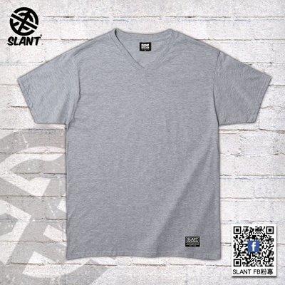 SLANT V領T恤 短袖V領T恤 時尚V領素面T恤 夏季百搭款 輕薄質感 不悶熱