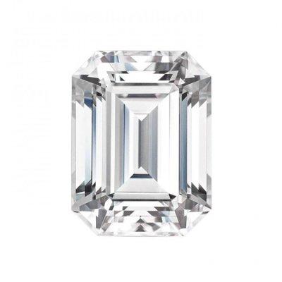 美國最新5克拉祖母綠形 莫桑石 摩星鑽 裸石 鑽石品質