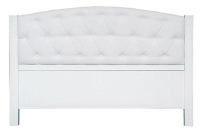 【南洋風休閒傢俱】精選時尚床片  雙人 床頭片- 5尺白色鈕釦床片 CY25507