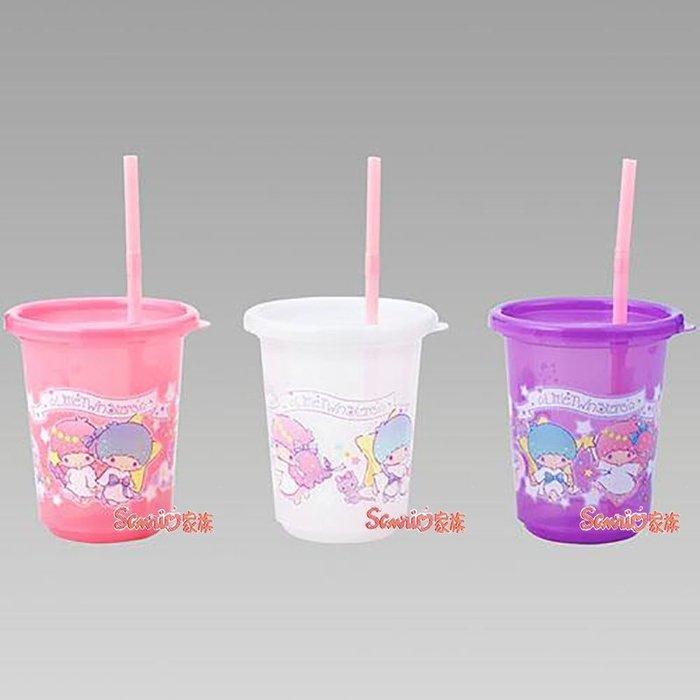 《東京家族》日本製 KIKILALA雙子星 兒童冷飲塑膠水杯3入 附吸管