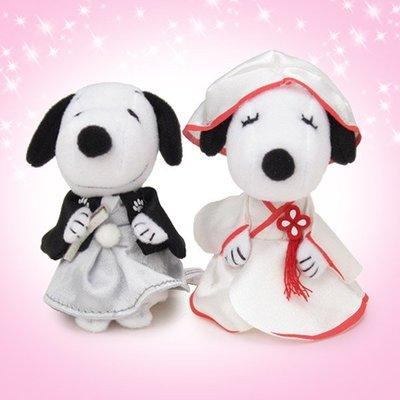 日本代購 SNOOPY 史努比 結婚飾品 娃娃 和風\洋風\西式 情人 禮物 生日 訂婚 求婚 禮車