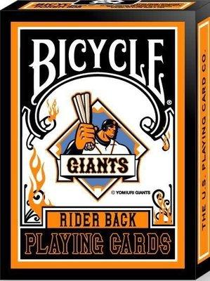 撲克牌BICYCLE巨人橘底橘邊限量