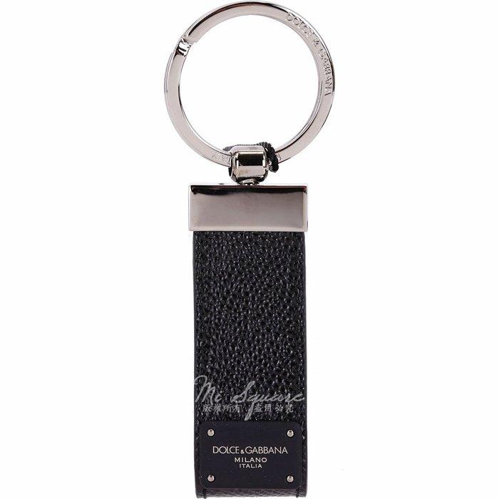 米蘭廣場 DOLCE & GABBANA 粒面小牛皮鑰匙圈(黑色) 1830494-01