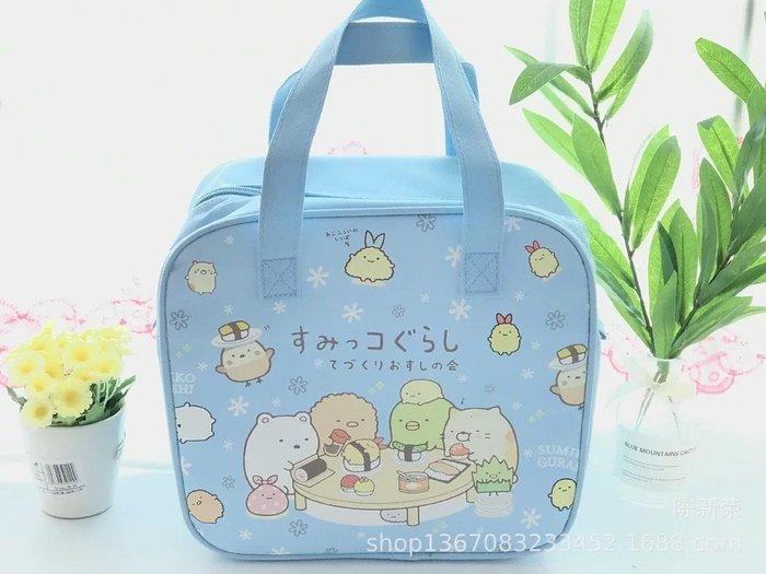 ☆║♥愷心小舖♥║☆日本卡通 角落小夥伴 蛋黃哥 雙子星 拉拉熊 方型大號拉鍊保溫便當袋