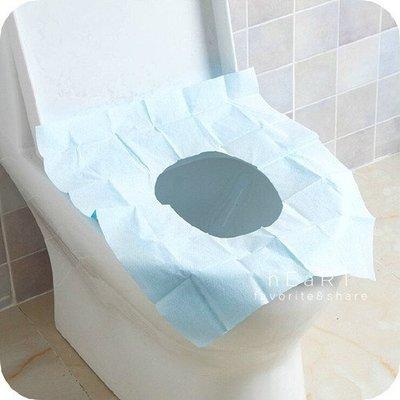 【可愛村】 外出旅行衛生防水PE馬桶座墊紙單片入46*38cm