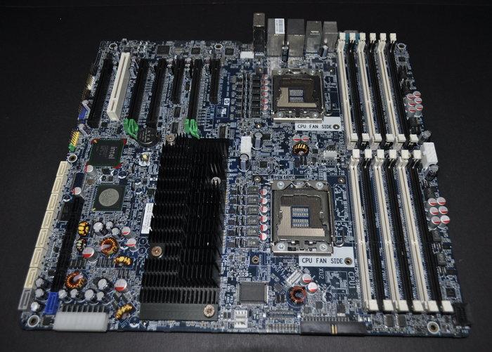 惠普 HP Z800 工作站專用 雙CPU 主機板 460838-002 (1366 5520 DDR3 SATA3)