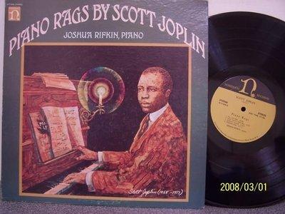 【Nonesuch LP名盤】2255.喬布林(Joplin)的鋼琴雷格音樂作品集(曲目詳照片),Rifkin鋼琴,2LPs