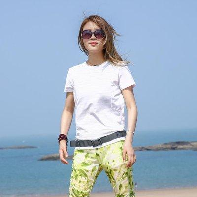 每週新品夏季戶外速干衣女短袖t恤彈力運動登山跑步吸汗透氣反光快干衣女