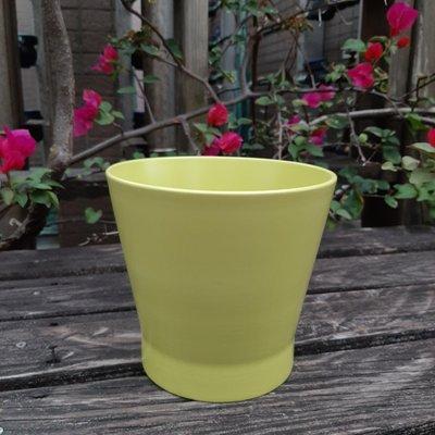 【Marsco】IKEA綠色陶瓷中型花盆(底部無穿洞穿孔)