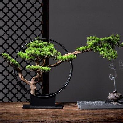 客臨門 新中式禪意仿真迎客松擺件家居客廳玄關樣板房綠植盆景創意裝飾品lsjj17