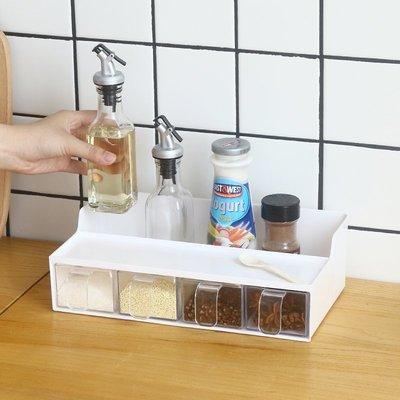 LIOU栗欧~鳳全抽屜調料盒廚房調味罐套裝家用調味瓶置物架塑料鹽罐調味盒子