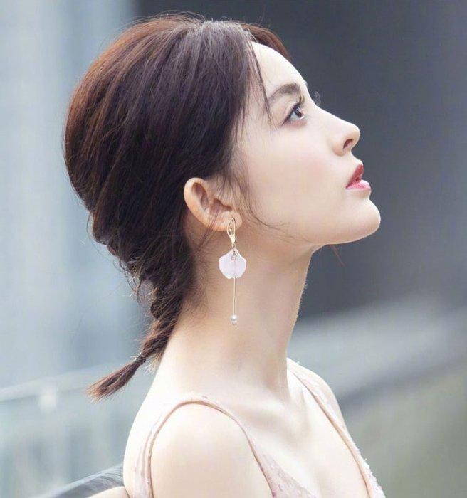 芭雷舞女孩垂墜式耳環 甜美花瓣式流蘇 920銀針
