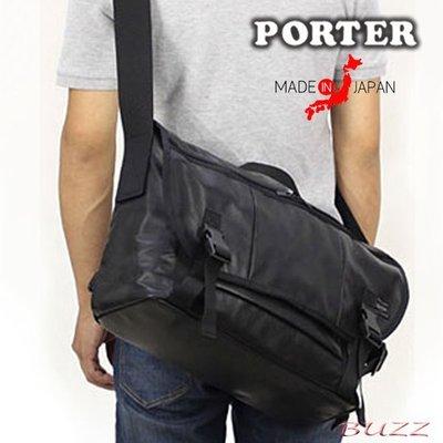 巴斯 日標PORTER屋- 預購 PORTER ALOOF(L) 牛革斜背包--郵差包 023-03758