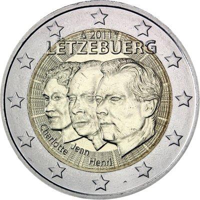 【幣 】Luxemburg 盧森堡2011年發行Charlotte Jean & Henry