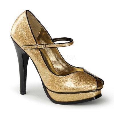Shoes InStyle《五吋》美國品牌 PIN UP CONTURE 原廠正品金蔥魚口鞋 出清『金色』
