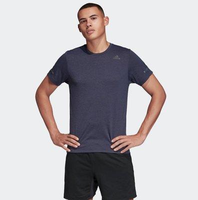 =E.P=ADIDAS CHILL TEE M 快速排汗 短袖 凍涼粒子 男 慢跑 健身 紫FL8580 紅FL8581
