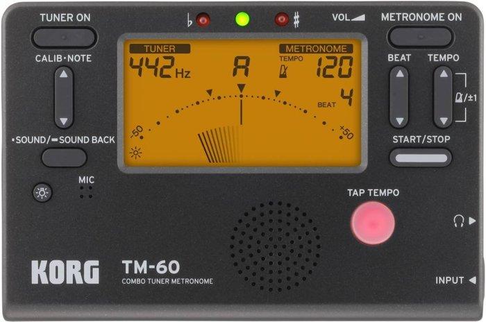♪ 后里薩克斯風玩家館 ♫『KORG TM-60 電子調音器+節拍器』黑/ 白