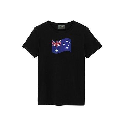 T365 澳洲 澳大利亞 Australia 國家 國旗 飄揚 T恤 男女皆可穿 多色同款可選 短T 素T 素踢 TEE