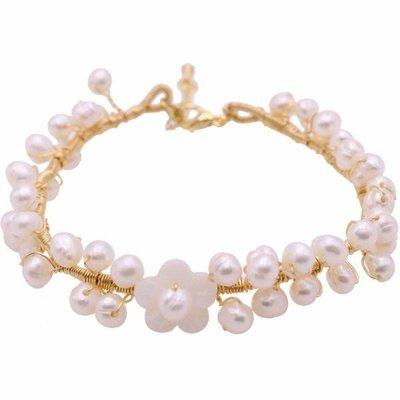 春季上新 天然小米珠淡水珍珠手鐲 手串 手鍊女韓版