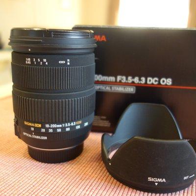 中古 日本製 Sigma 18-200mm F3.5-6.3 DC OS for Nikon DX 實用旅行鏡