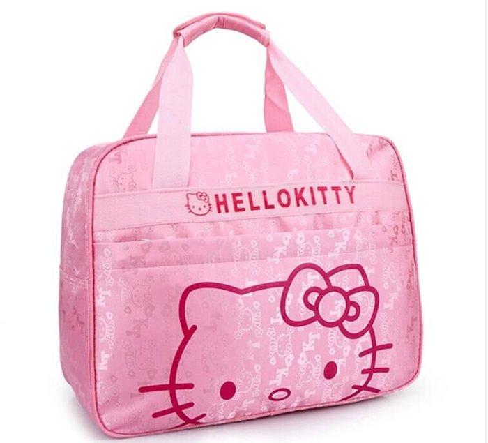 凱蒂貓Hello Kitty旅行袋旅行包手提包登機包行李袋