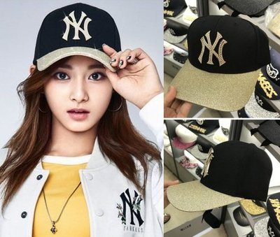 MLB 洋基隊棒球帽 鑲珠后蝴蝶結  周子瑜代言款 現貨!
