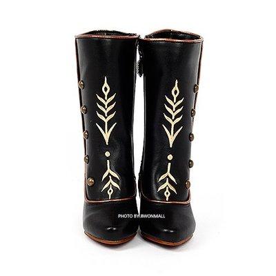 ♀高麗妹♀韓國 Disney FROZEN II 冰雪奇緣2 雨靴.靴子.雨鞋.黑色系(預購)