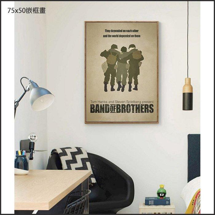日本製畫布 電影海報 諾曼第大空降 Band of Brother 掛畫 嵌框畫 @Movie PoP 賣場多款海報#