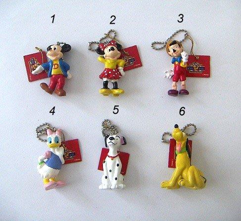 陽光一品~ 迪士尼系列珠鍊吊飾-2--8款-- 米奇.米妮.黛絲.小木偶.斑點狗.布魯托