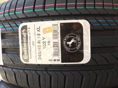 台北永信輪胎~德國馬牌輪胎 CSC5 MO 245/45R19 102Y 歐洲製 四輪含安裝 四輪定位
