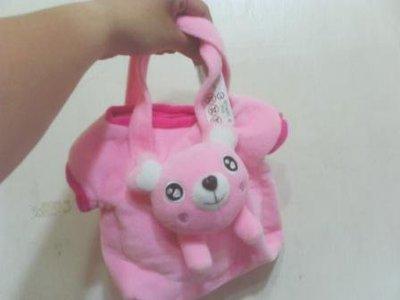 全新可愛粉紅熊手提袋
