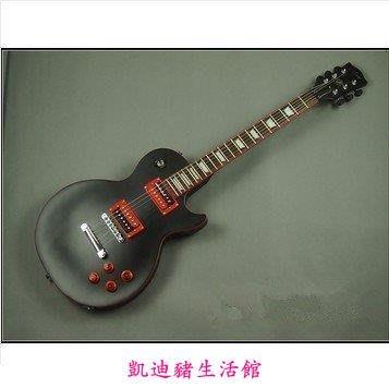 【凱迪豬生活館】正品 ARM啞光黑色 小黑款 LP電吉他套裝[grover鈕黑金剛 lespaul]吉它紅黑色電吉它初學者KTZ-201002