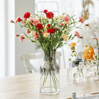 假花康乃馨仿真花束插花瓶家居裝飾花客廳擺設餐桌擺件母親節假花單支不凋花