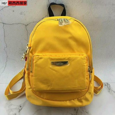 現貨促銷Kipling 新品 K14251金屬標小型手提後背包 黃色萌西西居家-巨優惠