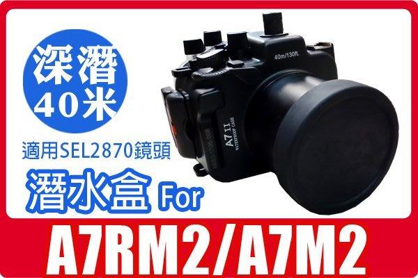 FOR SONY A7M2 A7RM2 潛水殼 防水盒加購保護袋900 另有A5100 A6000 A6300 A7