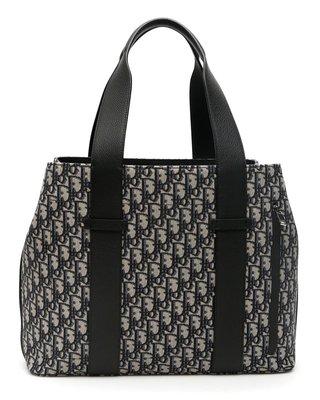 【Mark美鋪】Dior Oblique 提花 滿版LOGO 圖案 購物袋 托特包 斜肩包