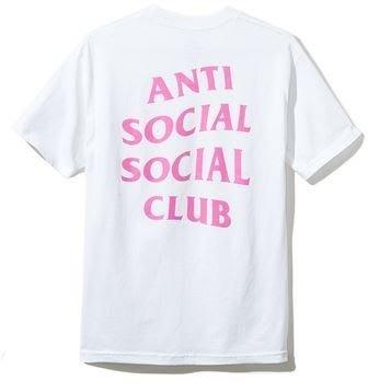 【日貨代購CITY】2017AW Anti Social Social Club 短TEE 白粉 LOGO 文字 現貨