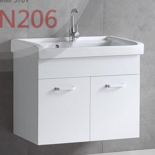 《101衛浴精品》80CM 一體成型陶瓷洗衣槽浴櫃組 全防水發泡板 5層環保亮面鋼琴烤漆【全台大都會免運費 可貨到付款】