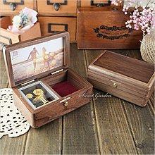 Sweet Garden, 胡桃木相框首飾音樂盒(可選曲) 含暫停器 置物格 可代裝相片 禮物免費包裝 台中音樂青蛙
