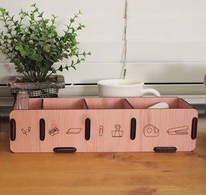 Growlife 種生活 ▶ 韓國 Unminuto - Desk Accessories Organizers木紋桌面用具收納盒/置物架/整理盒
