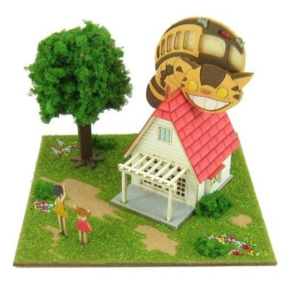 【煥達國際】日版  龍貓 My Neighbor Totoro草壁家  手作拼裝房子 袖珍屋 娃娃屋 模型屋
