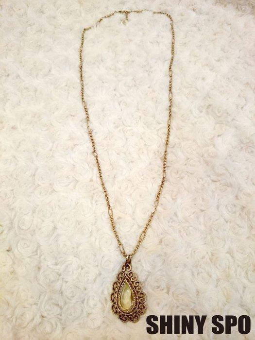SHiNY SPO 日本品牌 Lagunamoon  奢華巴洛克風水滴型中寶石項鍊 特價