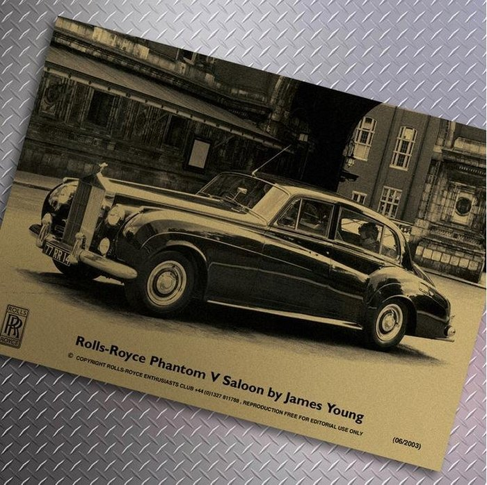 【貼貼屋】勞斯萊斯 Rolls Royce 懷舊復古 牛皮紙海報 壁貼 店面裝飾 經典電影海報 361