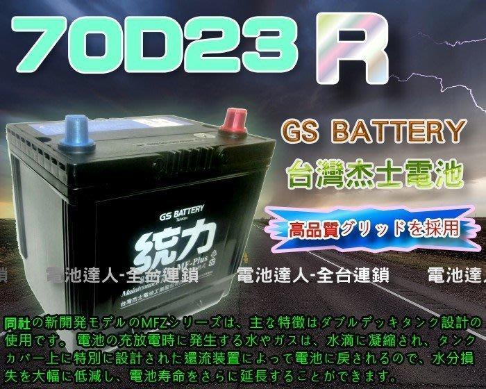 【鋐瑞電池】GS 杰士 70D23R 統力 汽車電池 納智捷 S5 U5 U6 U7 M7 GALANT GRUNDER