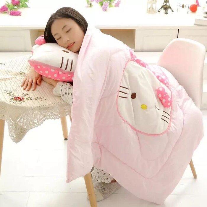抱枕款 Hello Kitty可愛卡通多 暖手二合一抱枕被子 兩用室內被 汽車 沙發 辦公