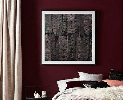 ART。DECO  北歐風格裝飾畫建築風格掛畫黑色系抽象復古懷舊餐廳臥室走廊壁畫(4款可選)